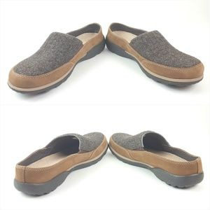 Chaco Shoes - CHACO|Brown Leather & Gray Wool Slip On Clogs Sz 8